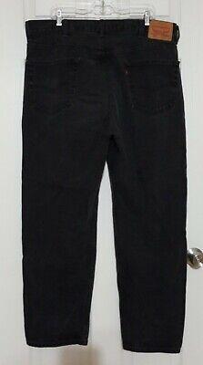 Levis 550 Regular Fit Straight Leg Jeans Black Denim 42x32