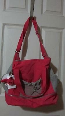 Kipling Active Gym Carryall Vibrant Pink TM5206 With Emmy Chain NWT $119