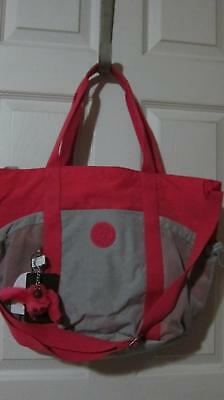 Kipling Active Gym Tote Vibrant Pink TM5201 With Emmy Chain NWT $119