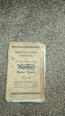 NORTON INSTRUCTION MANUAL MODELS 18 /20 /ES2/ 19/50&55
