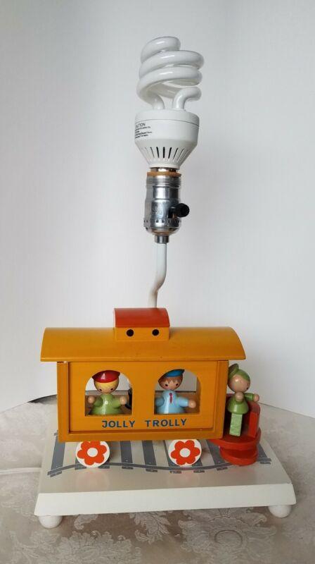 Vintage 1977 IRMI Originals Nursery JOLLY TROLLY Train Lamp W/Night Light