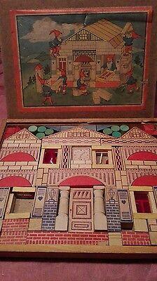 Antik Holz Baukasten Modell Haus  mit Anleitung