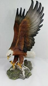 Vintage Homco Home Interiors Flying Eagle Figurine 1986 hand painted