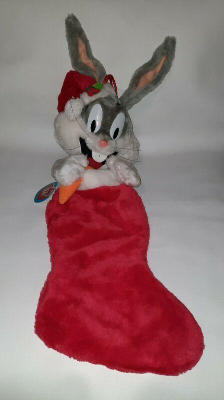 "Vintage 1990 Bugs Bunny Stocking Christmas Sock Looney Tunes 31"""