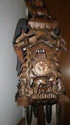 big original cuckoo clock black forest 8 day mechanical 2 melodie with dancer