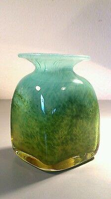 Ekanas Schweden Kunstglas Vase - mundgeblasen 60-er Jahre - signiert