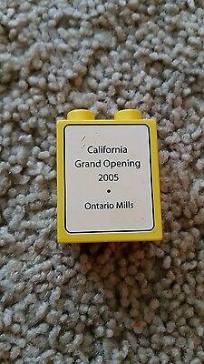 Lego Duplo  2005 California Grand Opening Block Brick Toy Ontario Mills rare (Ontario Mills California)