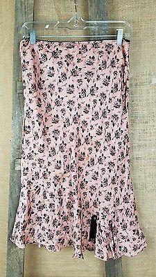Odille Anthropologe Mujer 6 Romántico Media Caña Falda Recta Floral Fruncido, usado segunda mano  Embacar hacia Spain