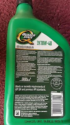 Motor Oil  Quart/946ml Quaker State Advance Best Protection 10W-40