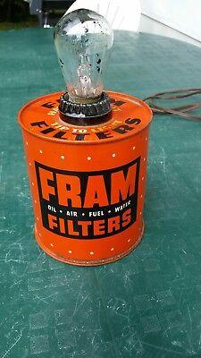 Vintage Fram Filters Light, Fram Display