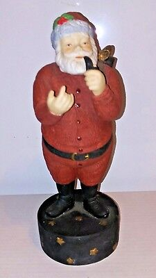- Vtg Dept. 56 Musical Wind Up Santa Claus Figurine Christmas