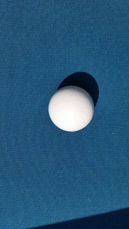 PALLINO (WHITE) BALL-OFFICIAL SOLID WOOD TARGET BOCCE  BALL- MADE IN USA