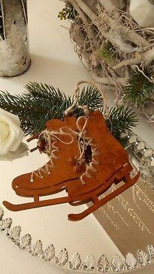 Weihnachten 11 (Edelrost Schlittschuh Paar Rost   Winter Deko Christmas Weihnachten 11x10,5cm)