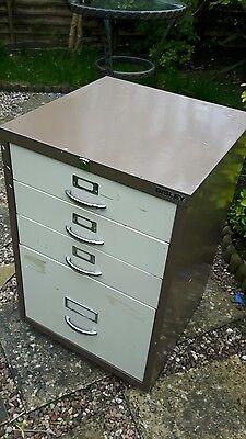 Bisley 4 drawer metal filing cabinet