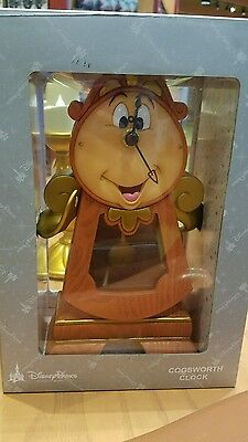 NEW Disney Parks Beauty and the Beast Cogsworth Clock 10
