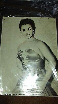 Vintage black and white photograph. Singer.  Rita Roza. Decca Records.