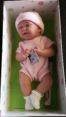 "JC Toys La Newborn 15"" Real Girl Pink Berenguer Vinyl Doll 18050"