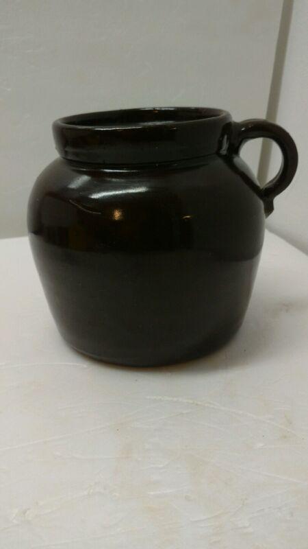"""Pottery Jug Brown 7"""" Vintage"""