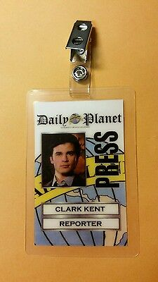 Superman Smallville ID Badge-Clark Kent Reporter costume prop cosplay - Clark Kent Costumes