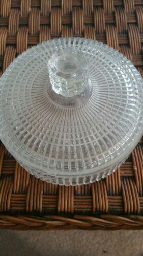 Cut Glass Round Vanity Jar Powder  - $19.99