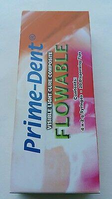 Vlc Light Cure Composite Flowable 4 Syringes B2 Kit Exp 102021