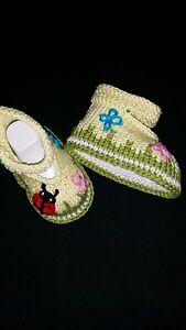 Gestrickte Baby Schuhe Ballerina