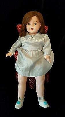 Vintage American Character Petite Doll  Composition with Cloth Body Marked