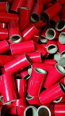 "25 37mm Fireworks KRAFT Pyro Cardboard Tubes 1/4 Stick Red 1"" x 2-1/2"" x 1/8"""