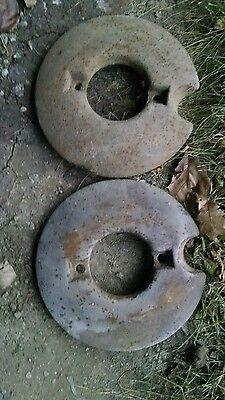 John Deere H Front Wheel Weights Set Rare