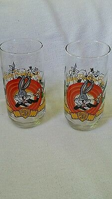 1990 Bugs Bunny 50th Anniversary - Looney Tunes Glasses (set of 2)