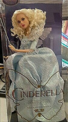 Disney Fairy Godmother Cinderella Film Collection Blue Silk Gown Wings & Wand He](Cinderella Fairy Godmother Wand)