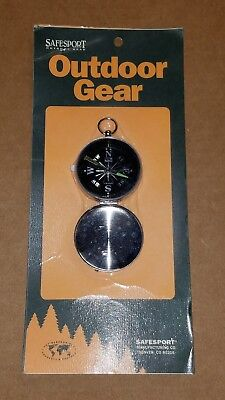Compass Gear - Vintage Outdoor Gear Pocket Watch Type Compass Made In Japan Safesport FREE SHIP