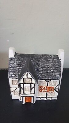 Used, Philip Laureston Babbacombe Pottery Miniature House Rose & Crown Pub No715 for sale  Shipping to Ireland