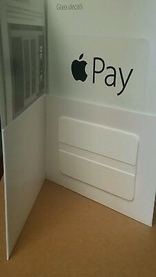 Authentic Apple Pay Stickers Decal Credit Card Payments Kit Retail Retailer Pos