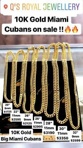 10K GOLD CHAINS ON SALE !
