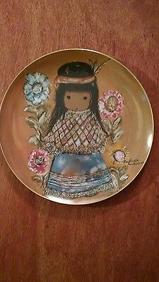Indian Girl Plate -