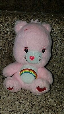 Cheer Care Bear Pink Rainbow Plush 7