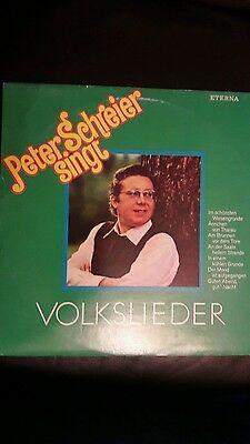 peter schreier singt Volkslieder lp eterna