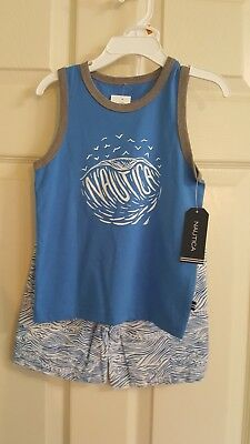 Nautica Childrens Apparel N230F74Q Toddler Boys Two Piece Set W/ Tank 3T NWT