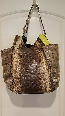 """SOLD OUT"" Jimmy Choo ""Anna Karung""  Watersnake Handbag Tote Hobo Bag - $3200."