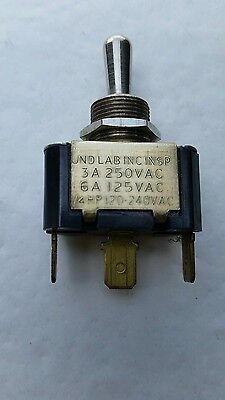 Carling Toggle Switch Single Pole Double Throw Momentary One Side. Nos.