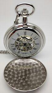 ROTARY Pocket Skeleton Mechanical Watch MP00726/01 RRP £149. 00