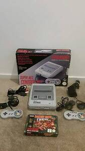 Super Nintendo Console With 2 Controllers plus donkey kong Holden Hill Tea Tree Gully Area Preview