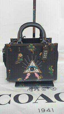 New Coach Rogue 17 With Pyramid Eye Leather Bag with Tags RRP £450