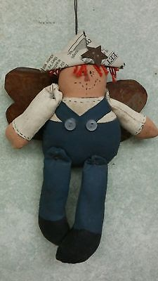 Paper Hat Raggedy Andy with Metal Wing Ornament Signed Paper Wings Clothing