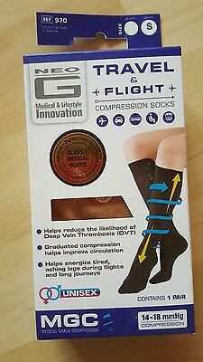 Neo G Compression Socks Beige  Innovation Travel And Flight Graduated size small
