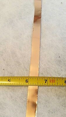 Copper Shim Stock .002 Thick 0.5 Wide 40 Inch Long 002 0.002 Soft