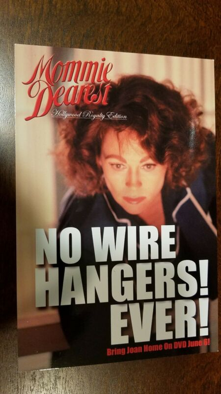 Mommie Dearest promo card # 2 - Faye Dunaway, Joan Crawford
