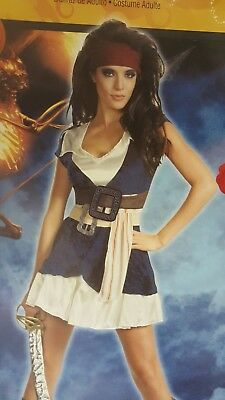 Jack Sparrow Sassy Pirate Caribbean Stranger Sexy Woman Costume Disguise 29842