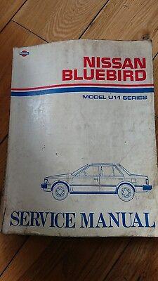 Nissan Bluebird U11, original dealer workshop manual, used condition.